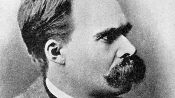 'Superman': Friedrich Nietzsche, German philosopher, 19th century (1956). Nietzsche (1844-1900) put forward the idea of the Übermensch (Superman) as an objective for humanity to aspire to in his book Thus Spoke Zarathustra, published in 1883. From the Picture Post Library. A print from 'Ideas, a volume about the origin and early history of many things, common and less common, essential and inessential', by Readers Union The Grosvenor Press, London, 1956. (Photo by The Print Collector/Print Collector/Getty Images)