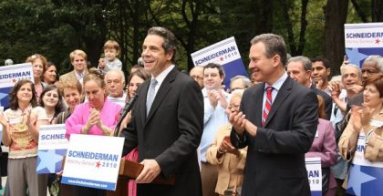 Attorney General Andrew Cuomo endorsing Schneiderman during the 2010 election.