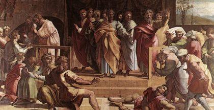 V&A_-_Raphael,_The_Death_of_Ananias_(1515)