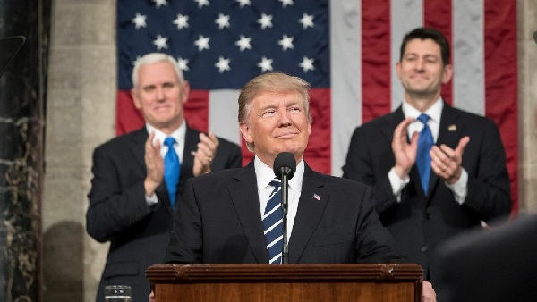 President Trump addressing Congress in March.